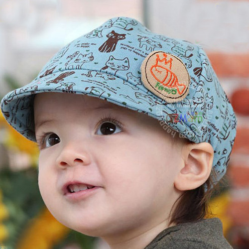 Boys & Girls Baby Childrens Beanies Acrylic Hat Cap Hats Blue